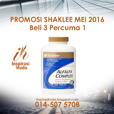 promosi, shaklee, alfalfa, alfalfa complex, produk, suplemen, vitamin