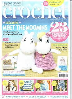 "Front cover of Issue 66 of Inside Crochet magazine featuring ""Moomins"" on the cover."