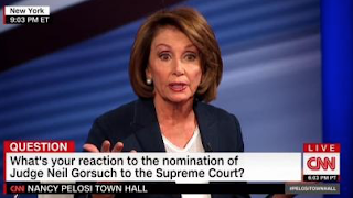 CNN Lets Pelosi Smear Gorsuch As Opposed to Air, Water, Food, and Medicine Without Challenge