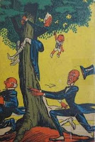 Emília no País da Gramática. Monteiro Lobato. Editora Brasiliense. Augustus (Augusto Mendes da Silva). Contracapa de Livro. Década de 1950. Década de 1960.