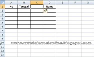 Cara Menambah Kolom Pada Excel