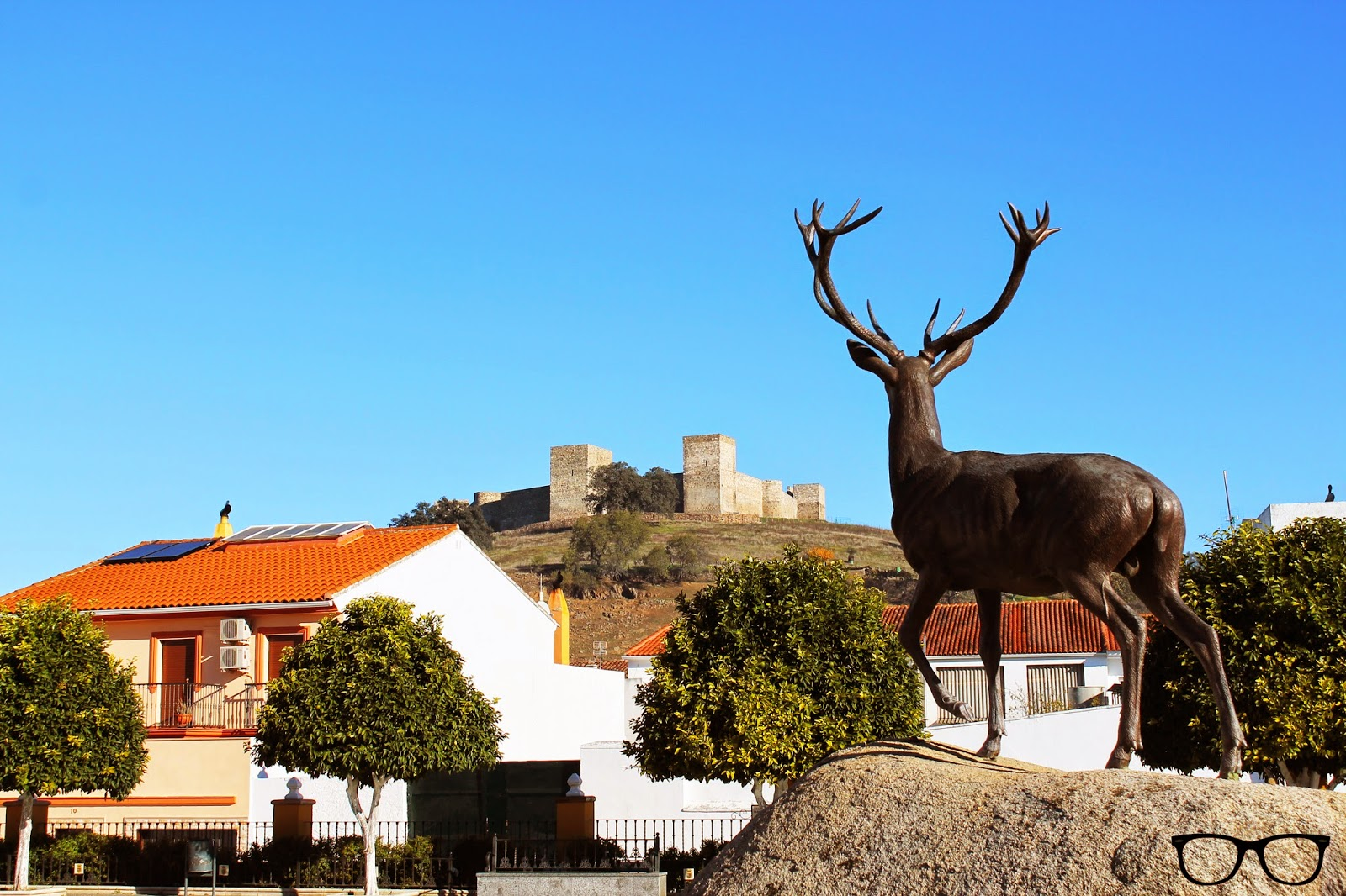 Paisaje castillo El Real de la Jara