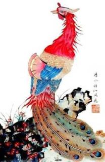 Hiasan Feng shui burung hong