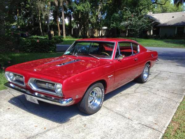 1968 Plymouth Barracuda Excellent Condition Auto
