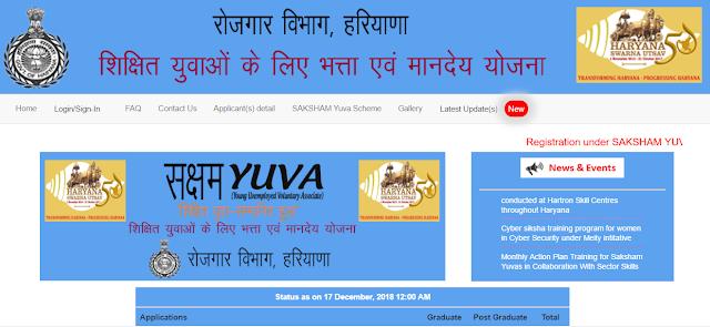 Saksham Yojana Check Status
