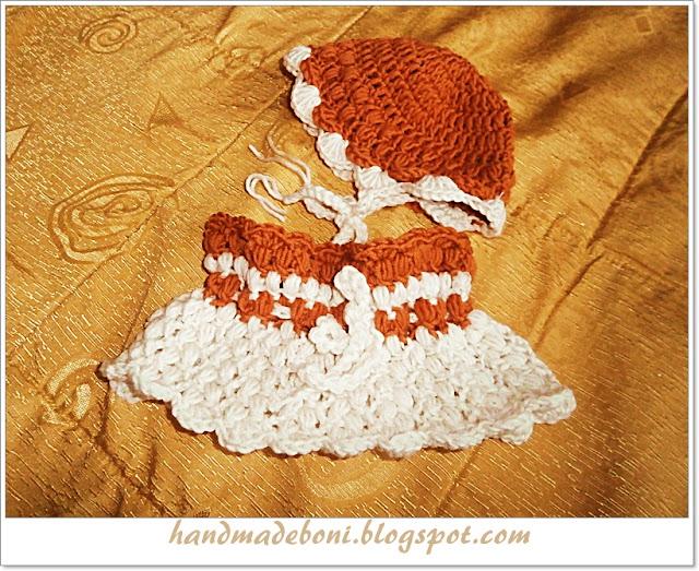 Zimowy komplet : komin z czapeczką dla niemowlaczka. Zrób razem ze mną:-)