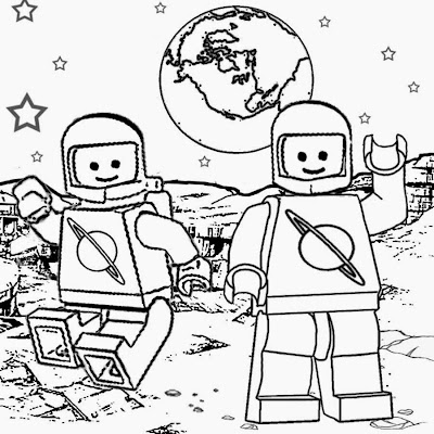 Solar system coloring pages galaxy printable Lego City Space Shuttle 3367 brave men moon exploring
