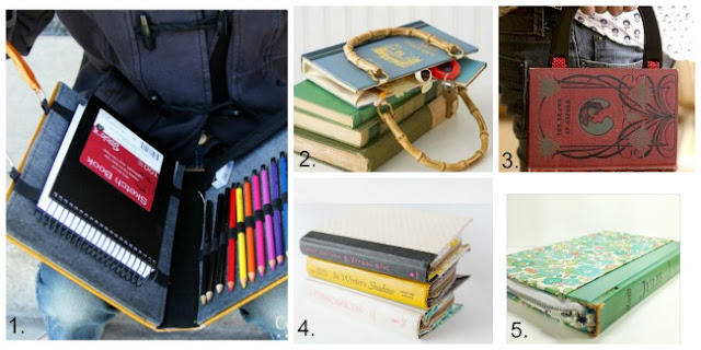 Book Clutch, Book clutch DIY, Book crafts