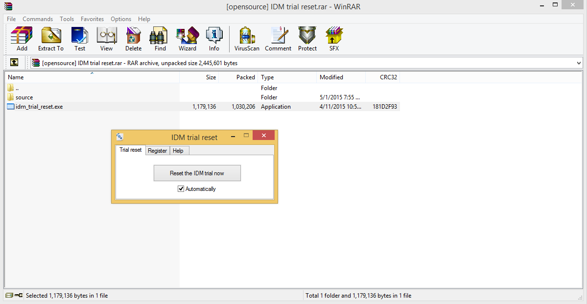 Window 7 & 8: INTERNET DOWNLOAD MANAGER TRIAL RESET FAKE