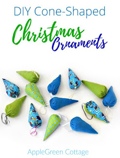 Free pattern - cone-shaped Christmas ornaments