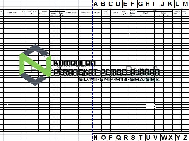 Contoh Buku Klapper PAUD Excel dan Word Lengkap