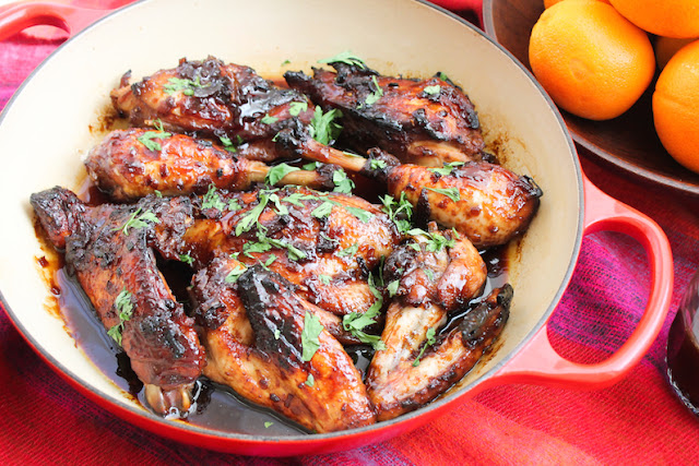 Food Lust People Love: A little bit sweet with a welcome sharp orange bite, this marmalade-glazed baked chicken tender on the inside and sticky and more-ish on the outside. You will be licking your fingers and eating the sauce with a spoon.
