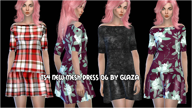 TS4 NEW MESH DRESS 06 BY GLAZA