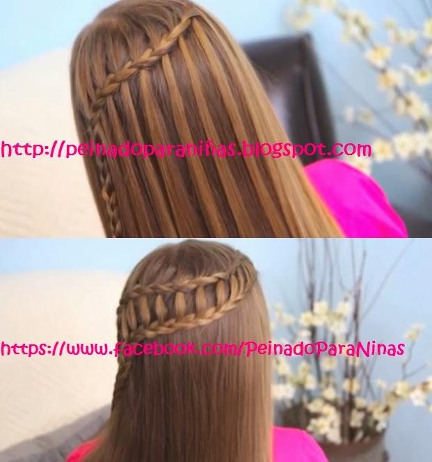 Peinado Para Ninas Peinado Para Ninas Con Trenza Cascada Peinado