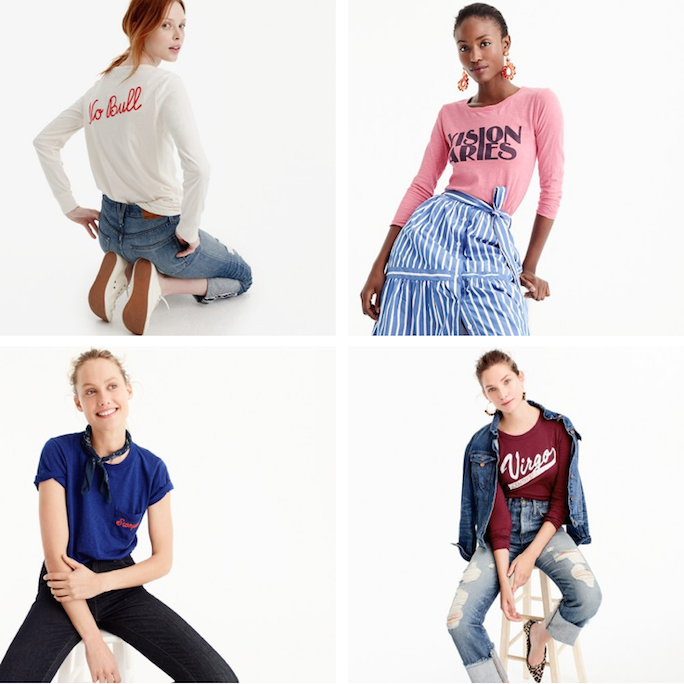 J.Crew Horoscope T-Shirts