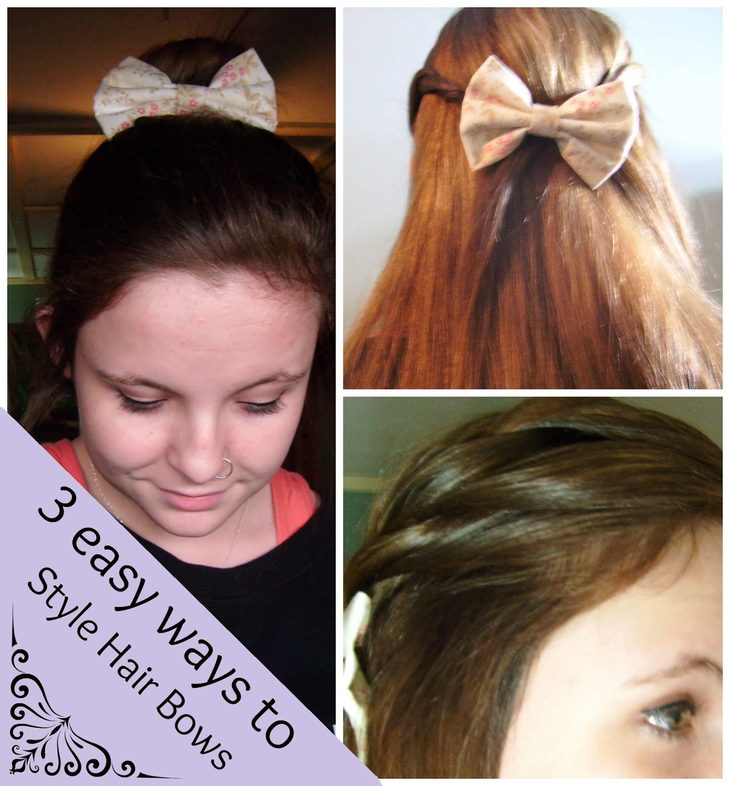 Kennyista: 3 Easy Ways To Style Hair Bows