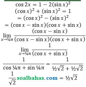 bahas limit identitas trigonometri