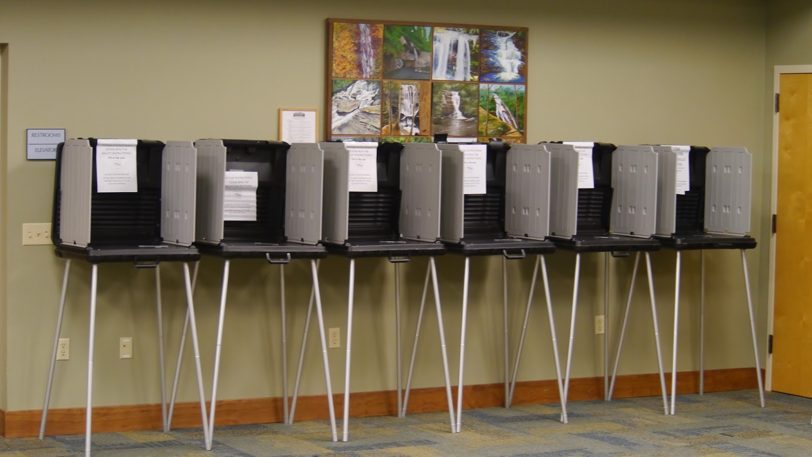 North Franklin Precinct Voting Booths
