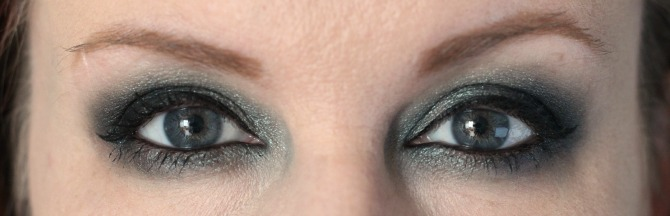 Dramatic look created using the Give Them Nightmares palette from Makeup Revolution