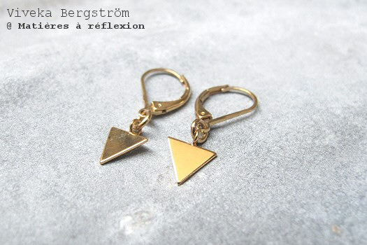 Boucles d'oreilles Triangle Viveka Bergstrom