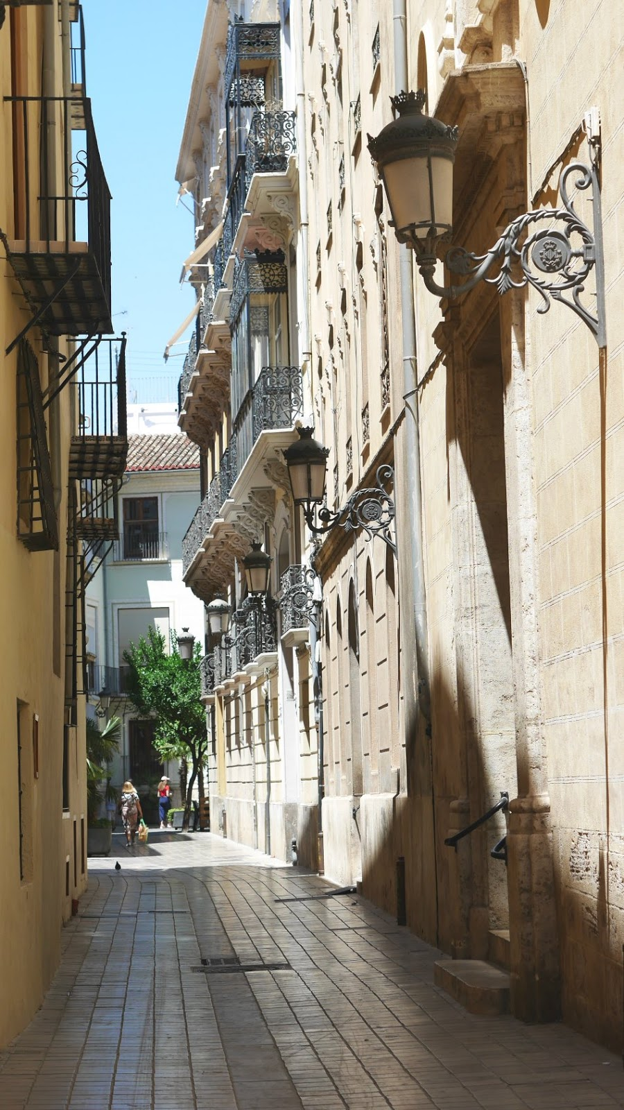 Historic street in Valencia Spain