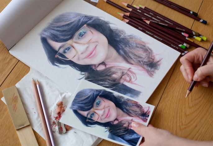 montagem de fotos feito a lápis