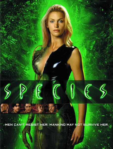 Poster of (18+) Species 1995 UnRated 720p Hindi BRRip Dual Audio Full Movie Download