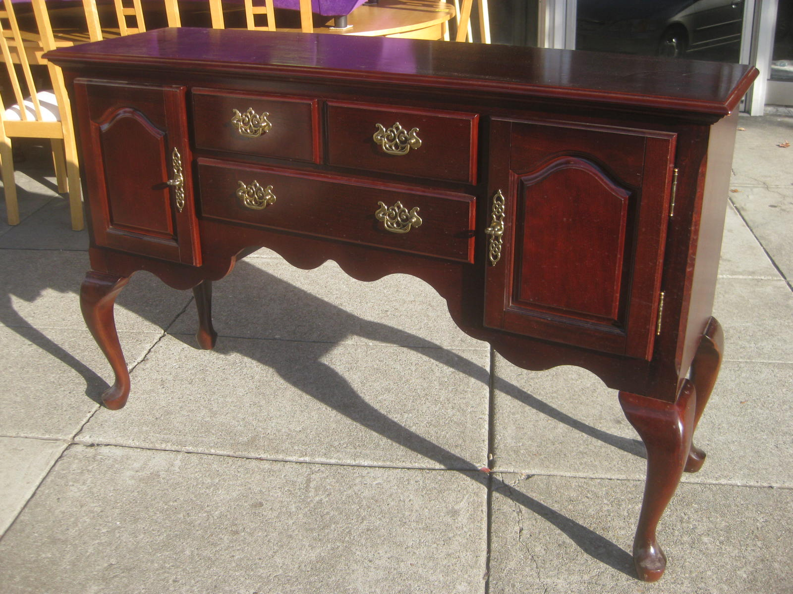 UHURU FURNITURE & COLLECTIBLES: SOLD - Queen Anne Style ...