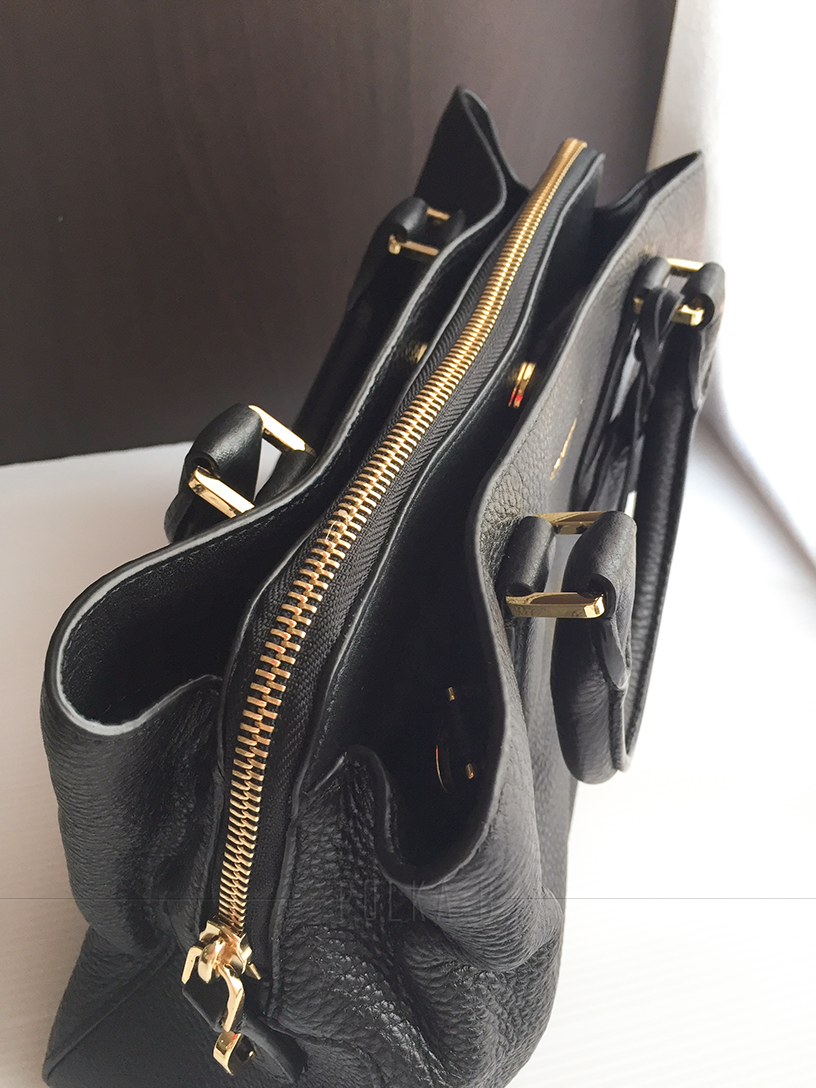 a85c67f44472 ... official michael kors camille small leather satchel black polka b 80c1c  eef42 ...