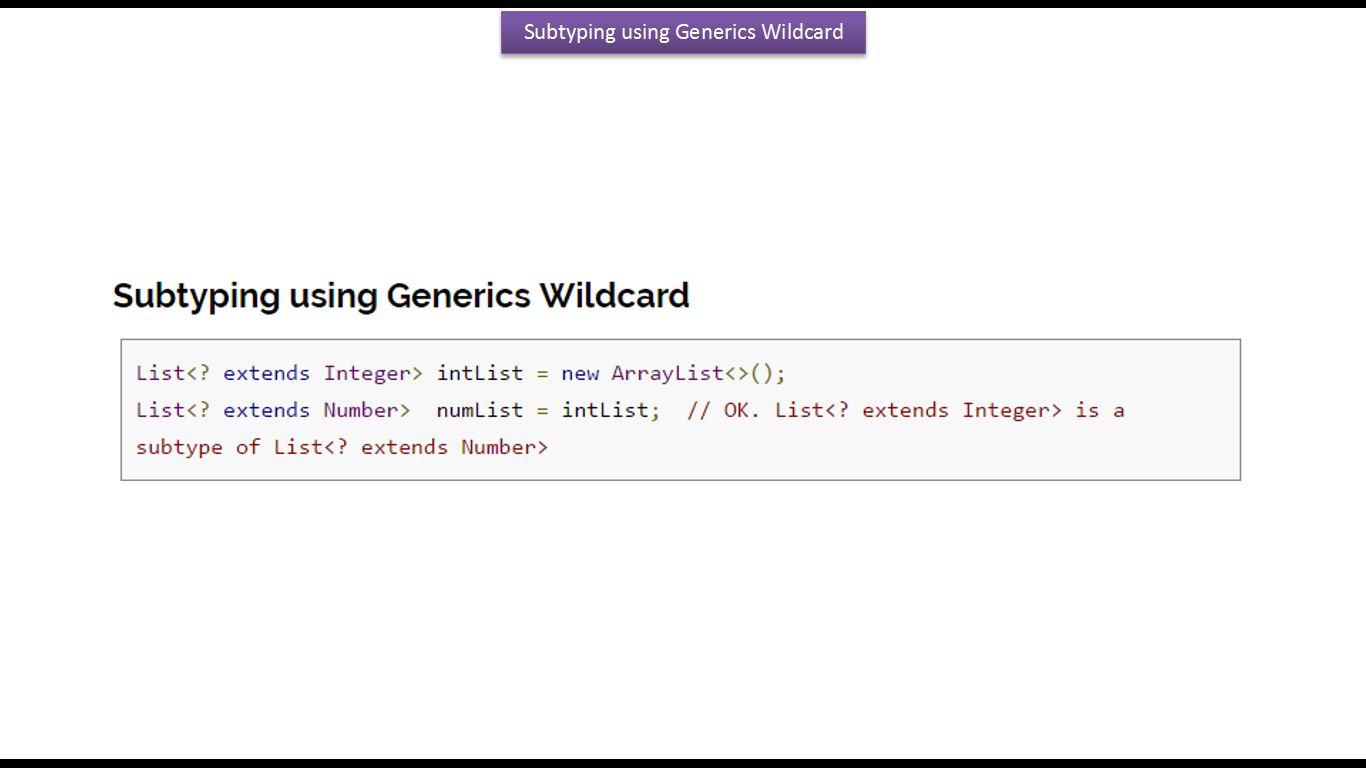 Java ee java tutorial generics in java java generics lower java tutorial generics in java java generics lower bounded wildcard in java generics baditri Image collections