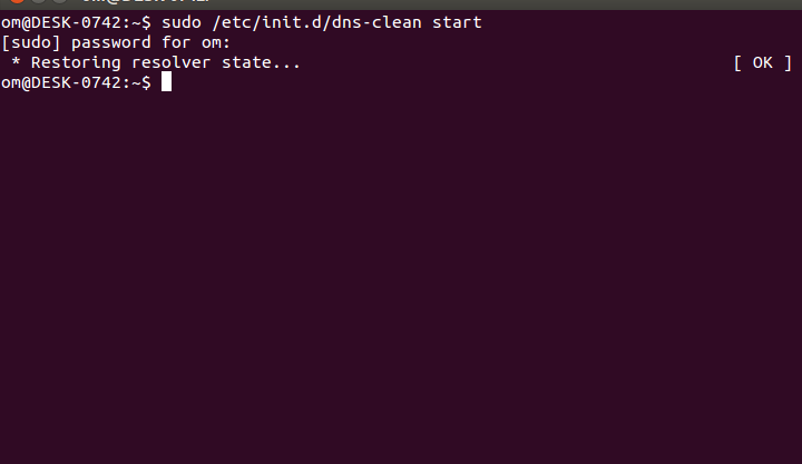 Om education and entertainment centre commands for flushdns in sudo etcinitddns clean start ccuart Choice Image