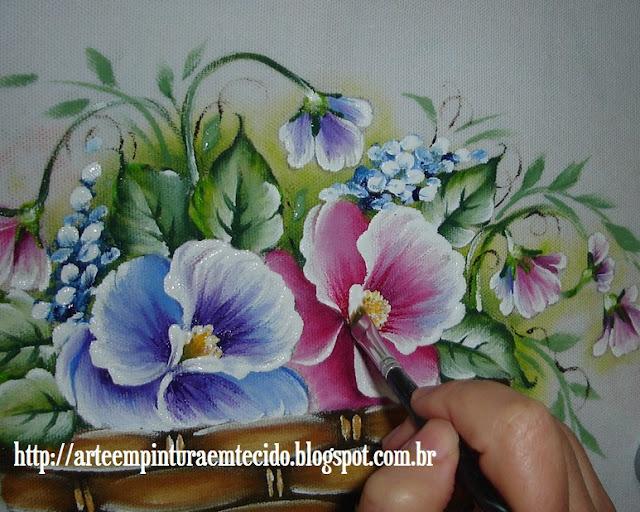 pintura em tecido passo a passo flores