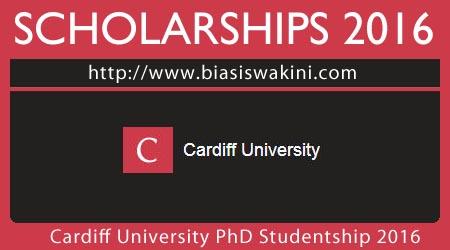 Cardiff University PhD Studentship 2016