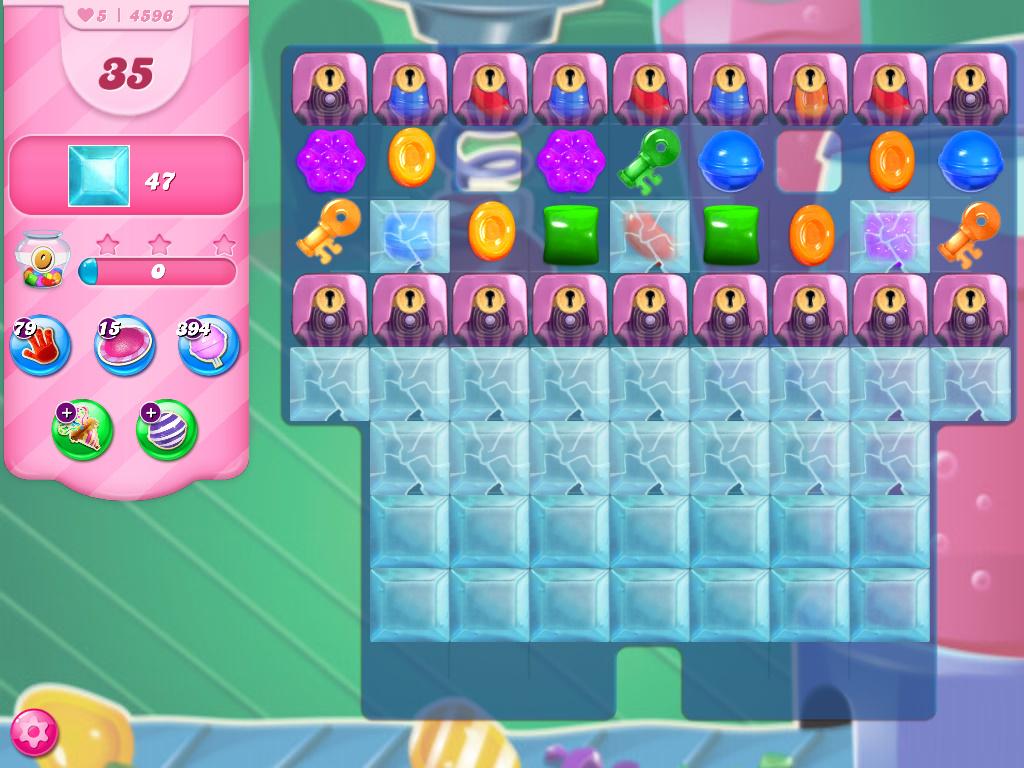 Candy Crush Saga level 4596