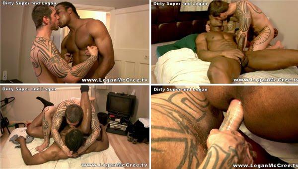 Sexo gay Interracial Big Cock Logan McCree Dirty Super