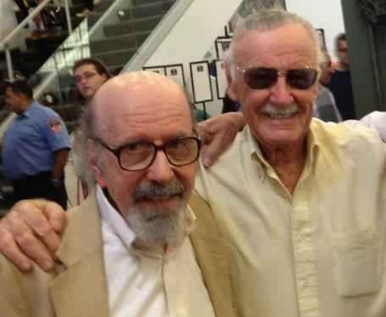 STAN LEE JUNTO A SU HERMANO MENOR LARRY LIEBER