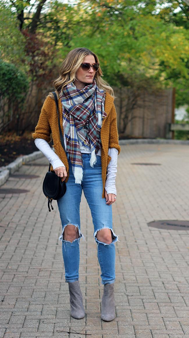 open chunky knit cardigan