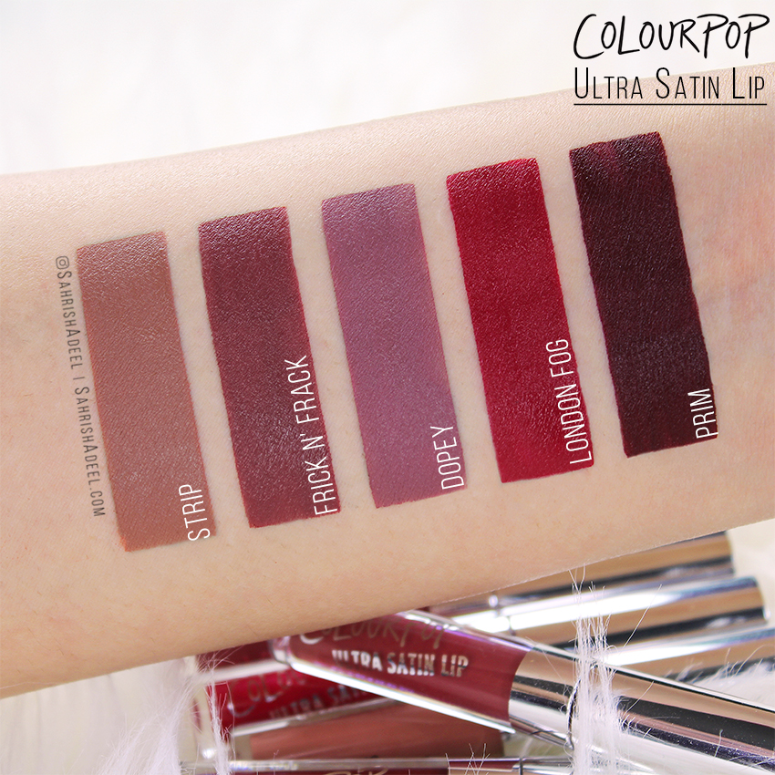Ultra Satin Lips by ColourPop Cosmetics - Review, Arm & Lip Swatches
