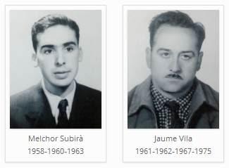 Los ajedrecistas del Club d'Escacs Mataró Melchor Subirá y Jaume Vila