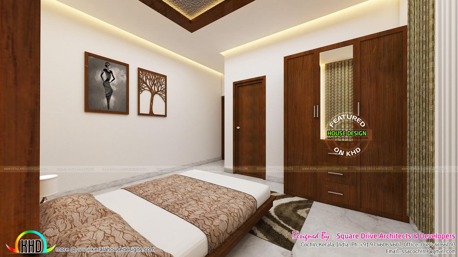 Bedrooms interior design kerala kerala home design and for Bedroom designs kerala