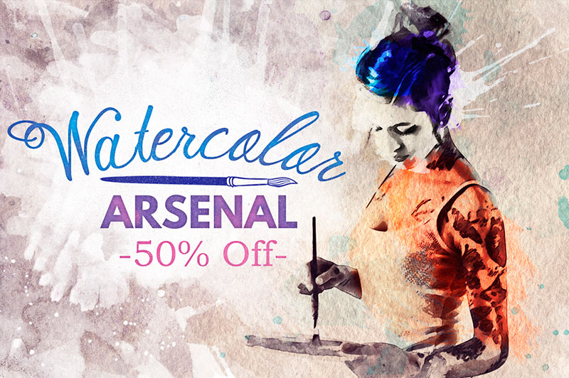 Watercolor Arsenal 50% off
