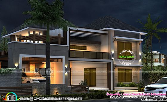 4 BHK modern style 2600 sq-ft home design