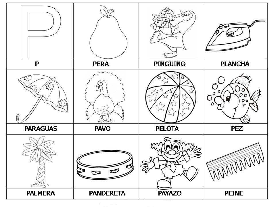 Dibujos Para Colorear Letra Q: Dibujos Para Pintar Letra P