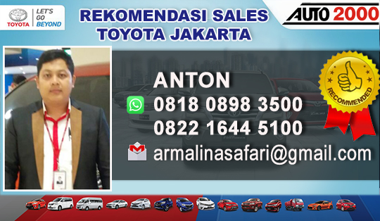 Rekomendasi Sales Toyota Pramuka Jakarta Timur