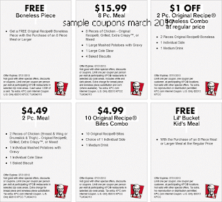 Kfc coupons march