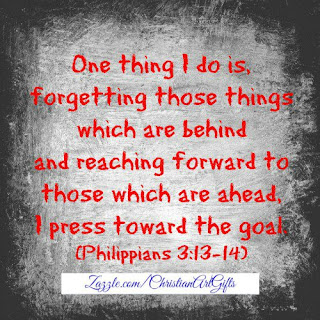 One thing I do is forgetting those things which are behind and reaching forward to those which are ahead, I press toward the goal. (Philippians 3:13-14)