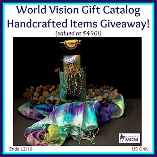 Enter the World Vision Gift Catalog Handcrafted Items Giveaway. Ends 12/19