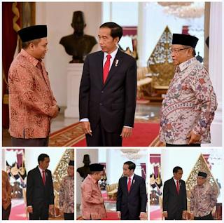 Pertemuan intensif Ketum PBNU, PBP Pagar Nusa bersama dengan Presiden RI , Joko Widodo | Pagarnusa.info