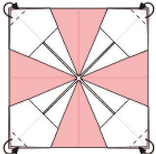 Bước 8: Gấp các góc giấy vào trong giữa hai lớp giấy