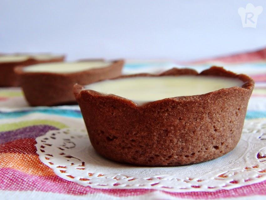 Tartaletas de chocolate y caramelo